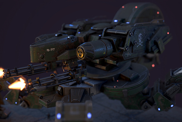 Spider Tank – Realtime (from Fausto De Martini's Concept)